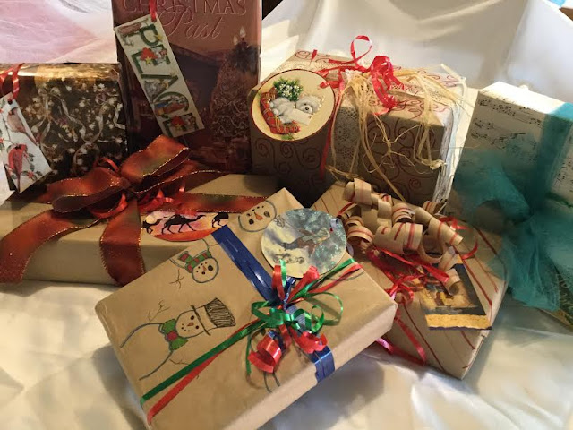 Homemade craft paper gift wrap