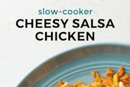 Slow-Cooker Cheesy Salsa Chicken