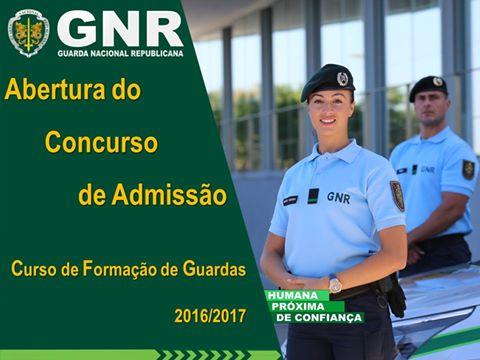 Concurso de Admissão GNR 2016