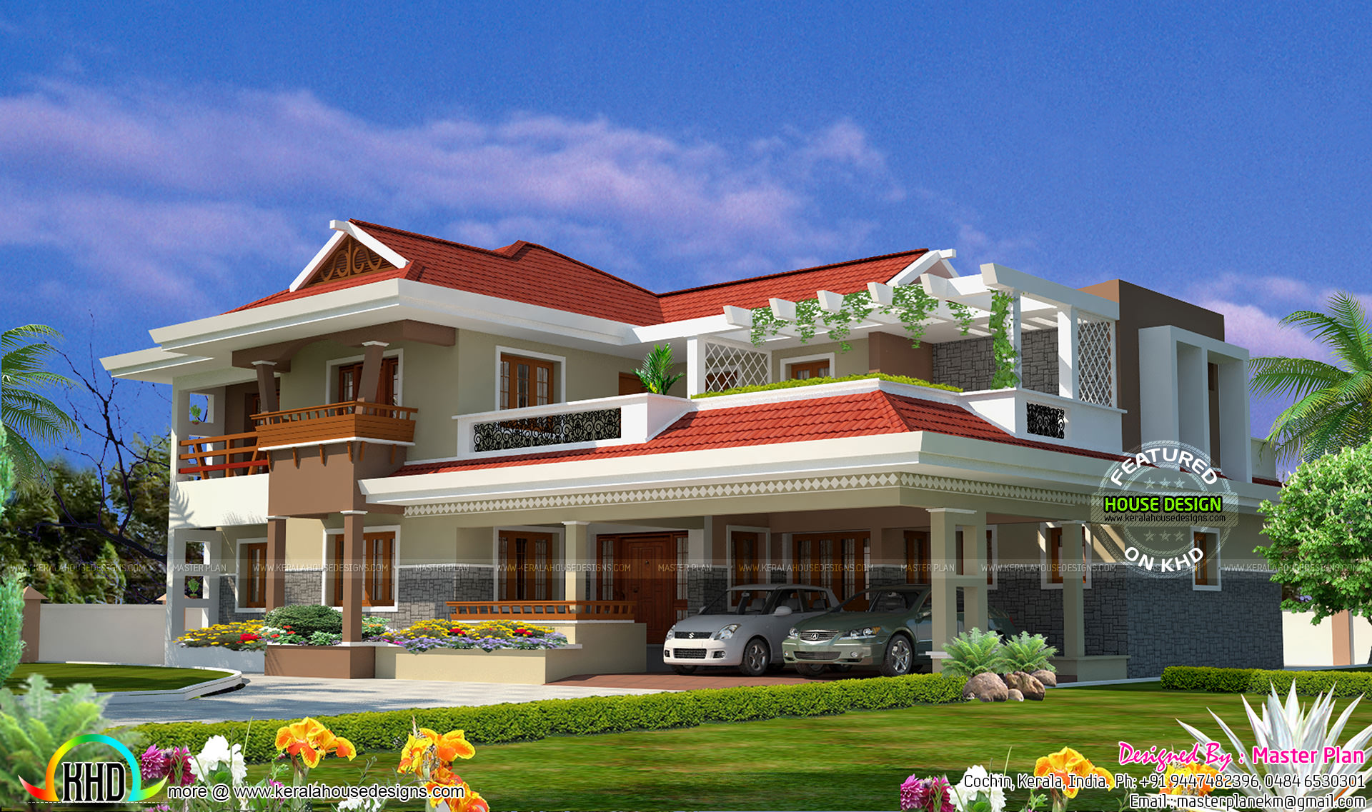 1 crore home 4700 square feet kerala home design for Home designs 2017