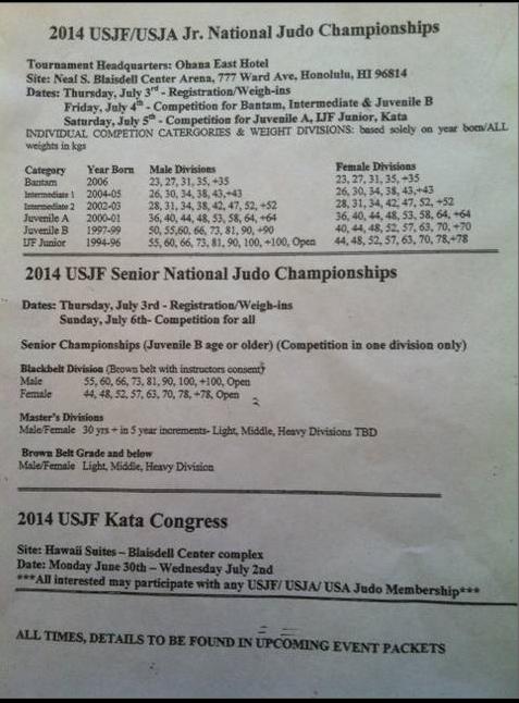 Hawaii Judo and Martial Arts Center: 2013