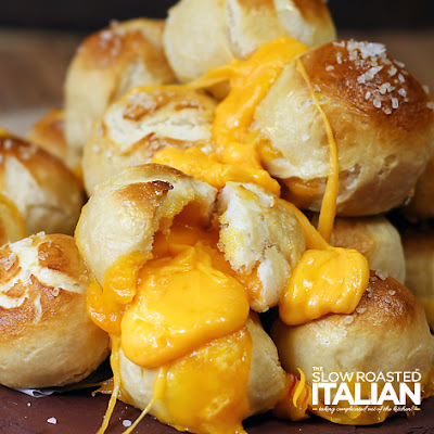 Outrageous Cheese Stuffed Pretzel Bombs