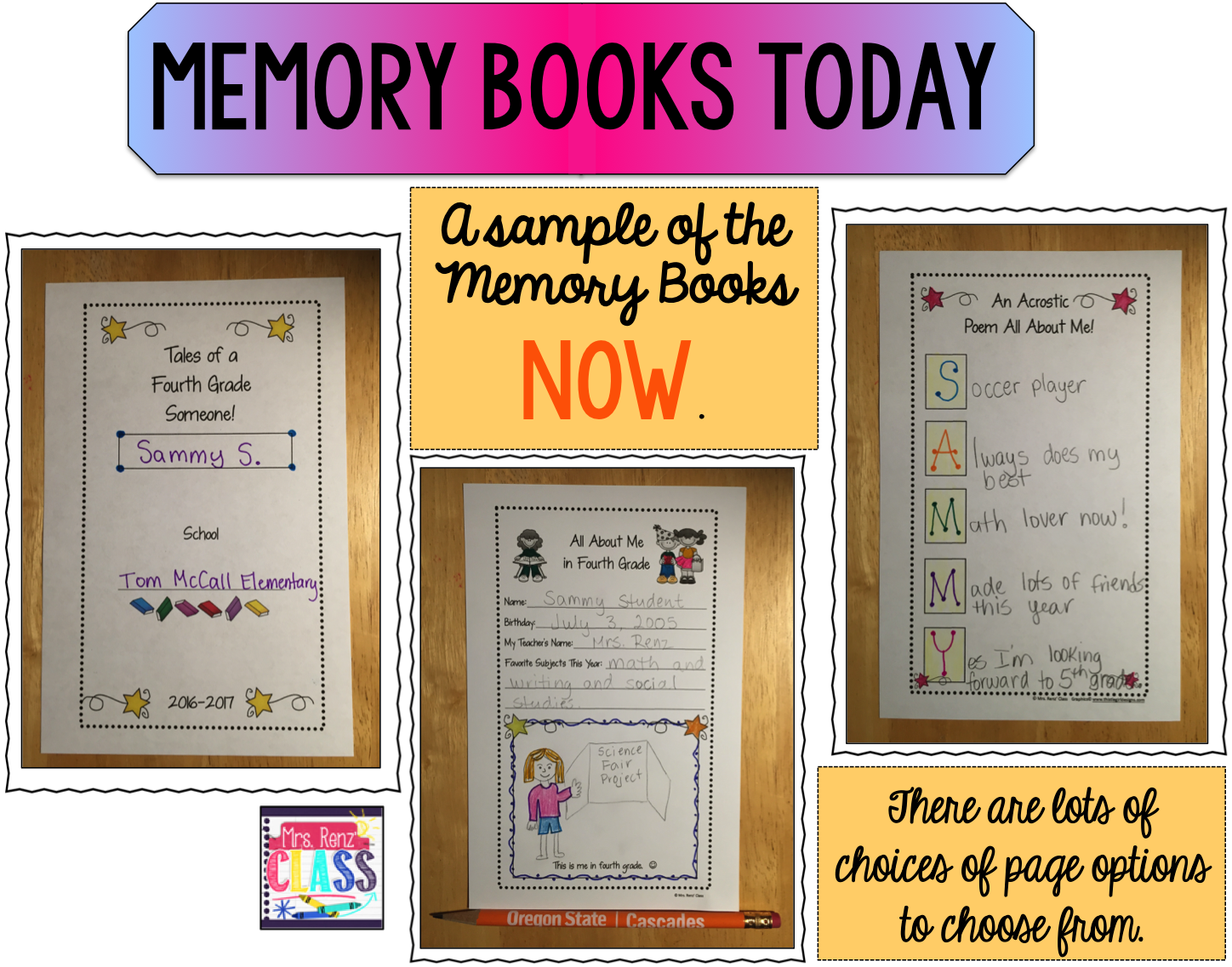 Mrs Renz Class Capture End Of Year Memories With A Memory Book