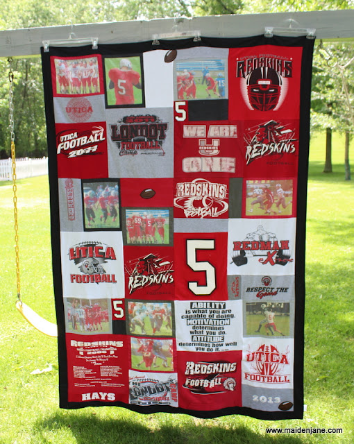 High School Memory Blanket with Photos and a Border