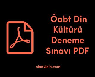 Öabt Din Kültürü Deneme Sınavı PDF