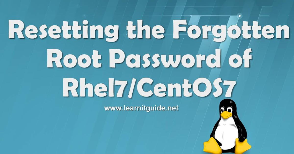 How to change root password on rhel 7