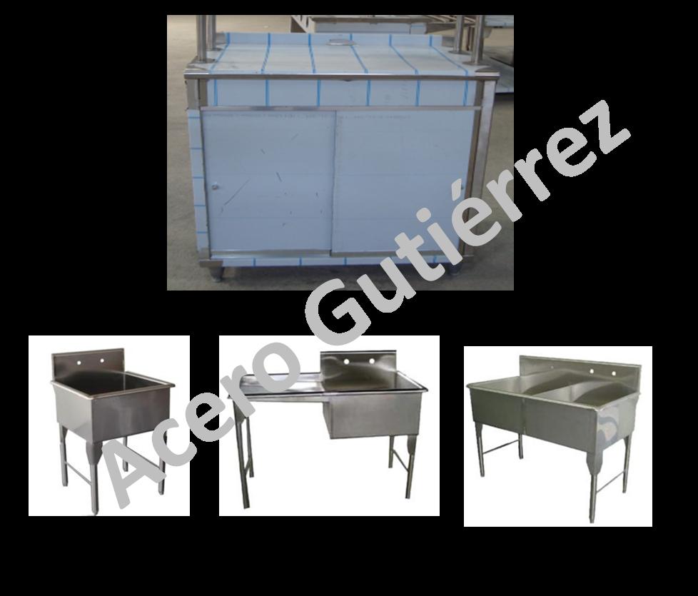 Muebles industriales en acero inoxidable for Muebles industriales