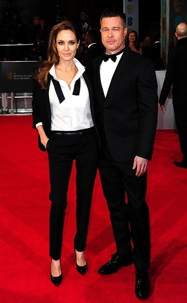 Angelina Jolie and Brad Pitt at the BAFTA 2014