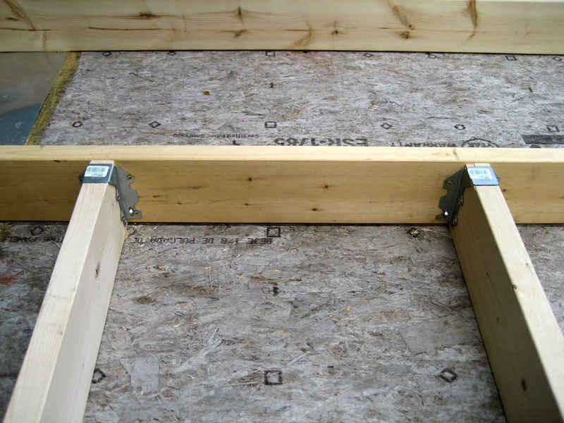 Where The Cantilevered Joists Intersect Outer Sill I Toeed To And Of Course All Have Adhesive On Their