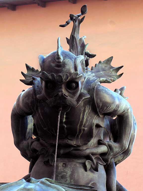 Sea monster fountain by Pietro Tacca, piazza Colonnella, Livorno