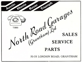 North Road Garages (Grantham) Ltd advert 1981