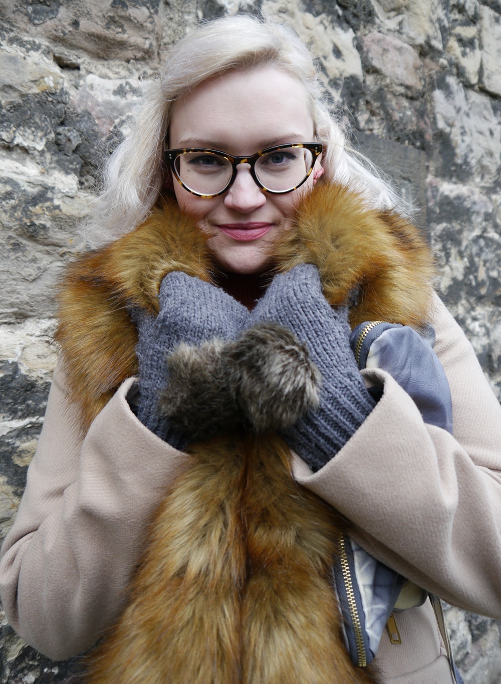 Mittens and fur trend with Scottish style blogger Wardrobe Conversations