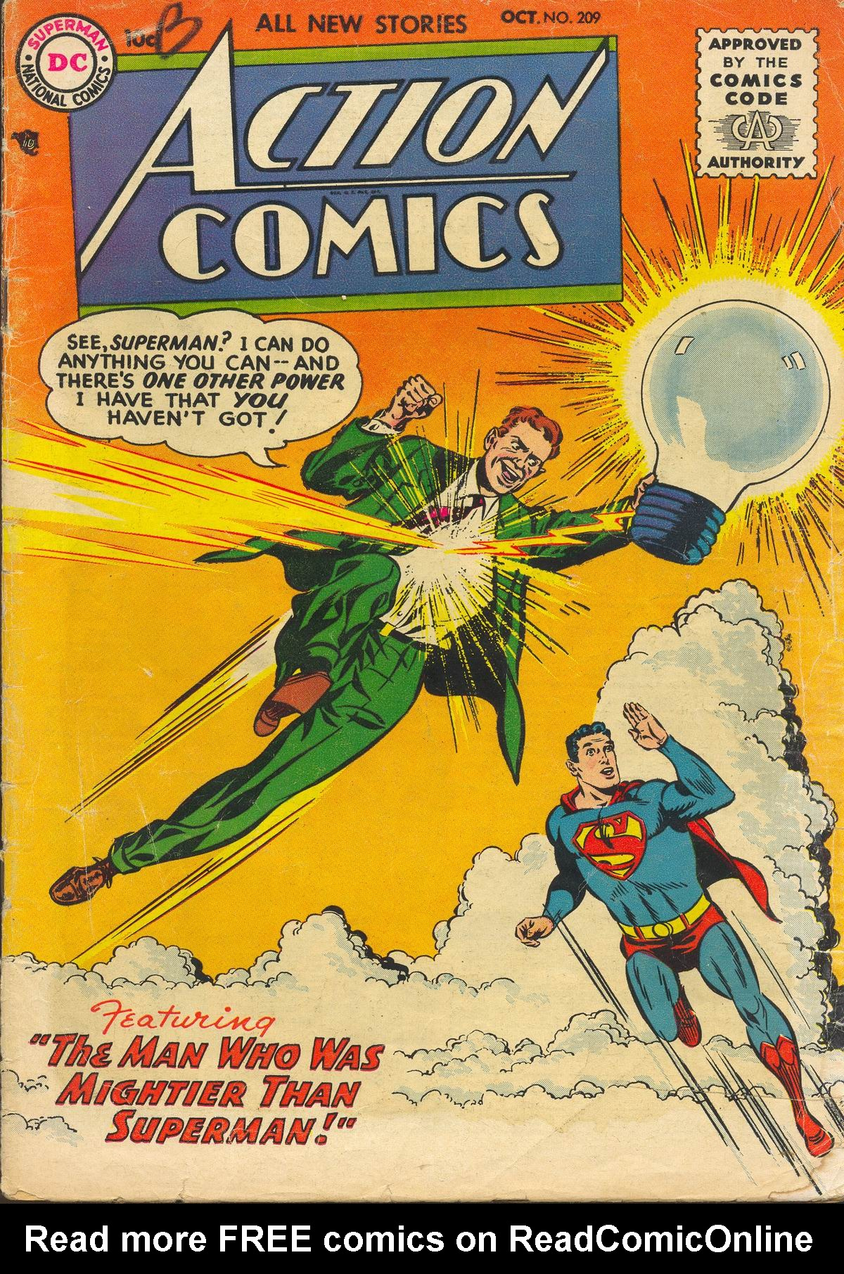 Read online Action Comics (1938) comic -  Issue #209 - 1