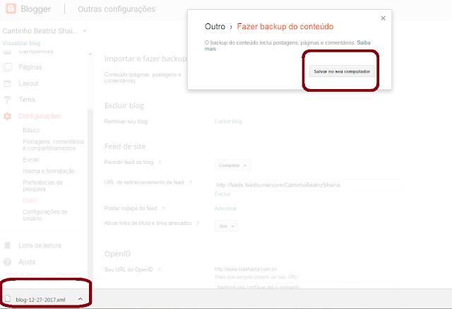 backup do blog, como fazer backup do blog, blogger, blog, dicas para blogueiras
