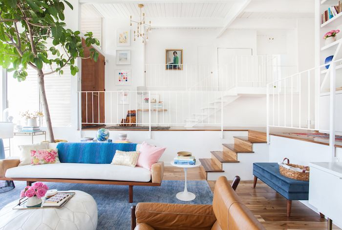 Emily Henderson's Blue and Pink Living Room