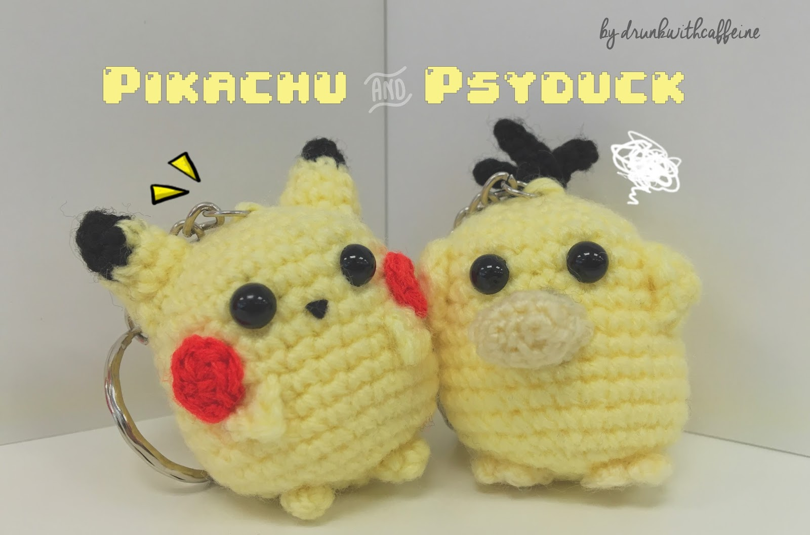Amigurumi Patterns Pikachu : Drunk with caffeine: amigurumi pattern pikachu & psyduck