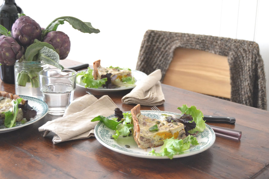 recette tarte potiron champignons marrons spoonencore