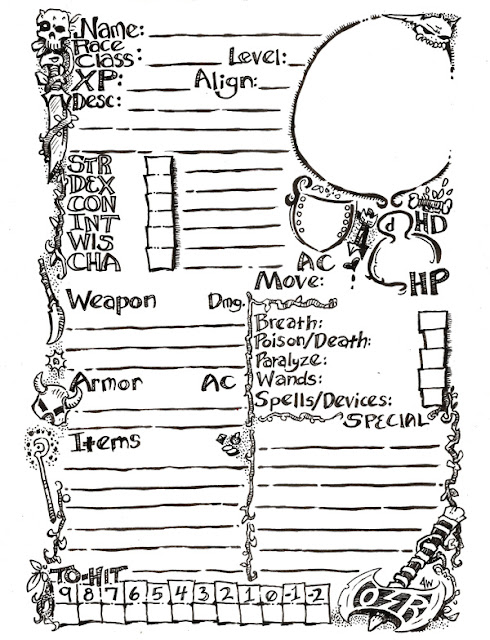 Doomslakers!: OSR Character Sheet (form fillable)