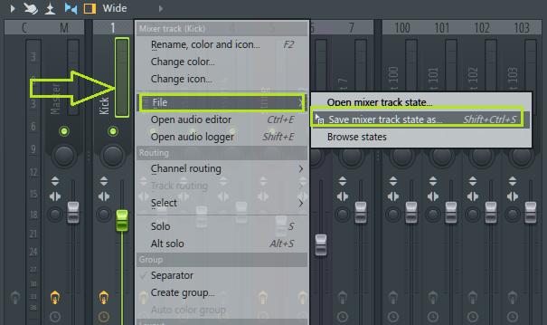 Cara Menyimpan setingan mixer effect FL 12