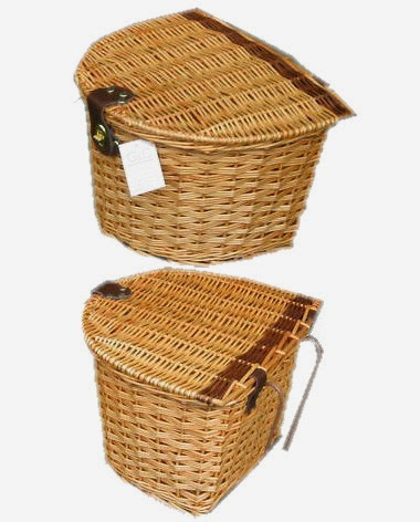Wicker bike baskets
