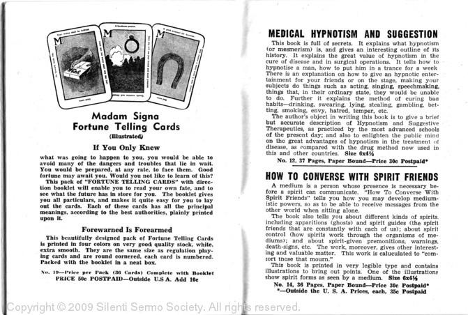 MEDITATION ART & PARANORMAL EXPERIENCES: 1916 Table