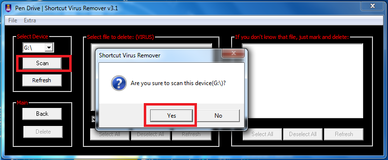 REMOVER VIRUS 3.1 SHORTCUT TÉLÉCHARGER
