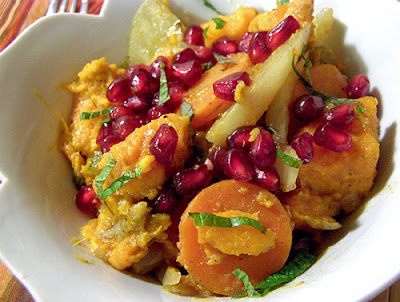 Another Bowl of Sweet Potato Pomegranate Tagine