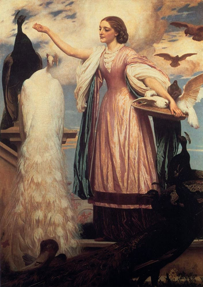 Menina Alimento Pavões - Lord Frederick, o mais famoso artista britânico do século XlX