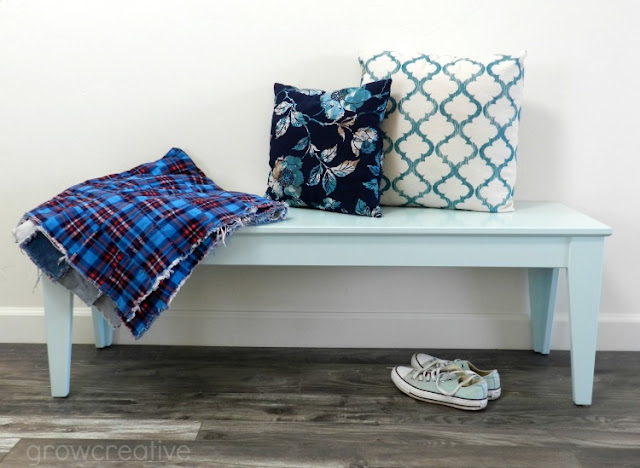 Ikea Bench Painted Blue