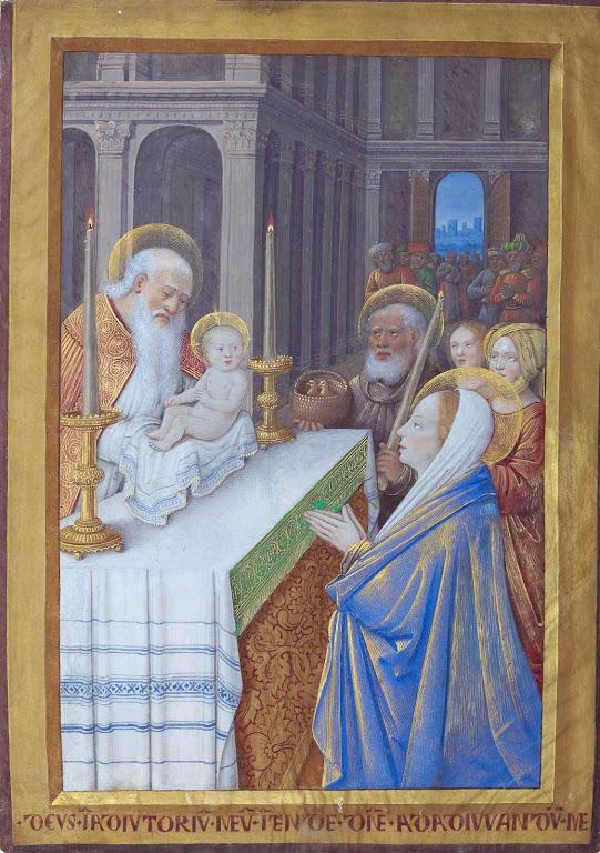 Apresentação do Menino Jesus ao Templo. Jean Bourdichon (1457 -- 1521),  J.P.Paul Getty Museum, Los Angeles