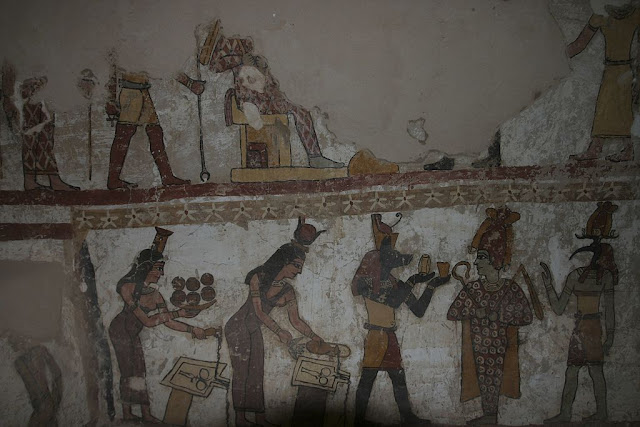 Paintings from the tomb of Petosiris at Muzawaka (XX)