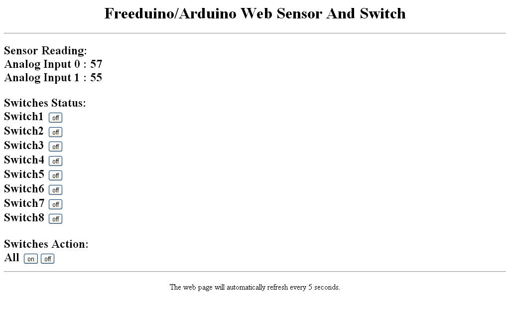 cheaphousetek: Freeduino/Arduino Web Sensors And Switches