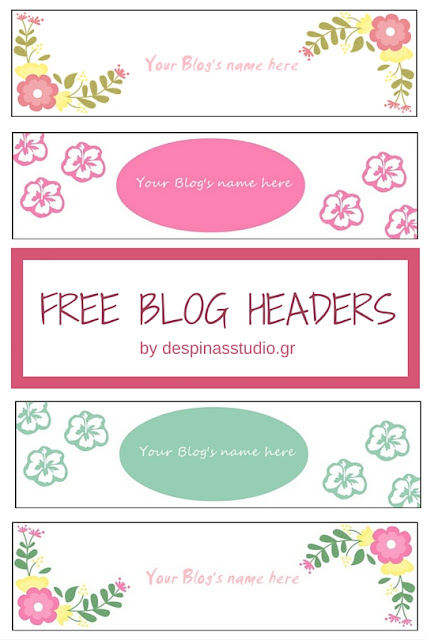 FREE Blogger headers Spring Flowers