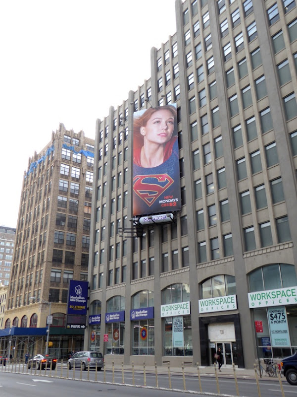 Supergirl TV billboard NYC