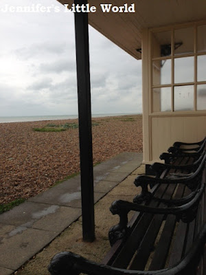 Seafront shelter on Worthing beach