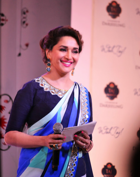 Madhuri Dixit Dazzles At the Taj Mahal Tea Launch Event - Guilty Bytes Blog :Top Indian Fashion | Beauty | Style Blog Delhi