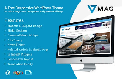 Vmag wordpress template free 2017