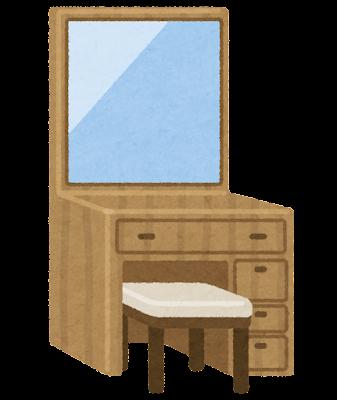 鏡台のイラスト