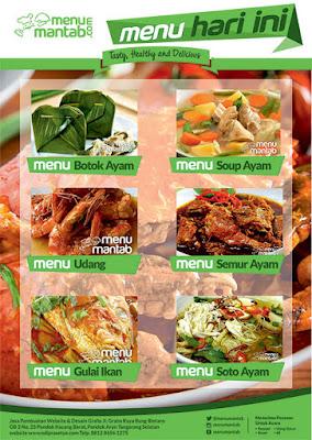 Desain Brosur menu untuk pengusaha makanan