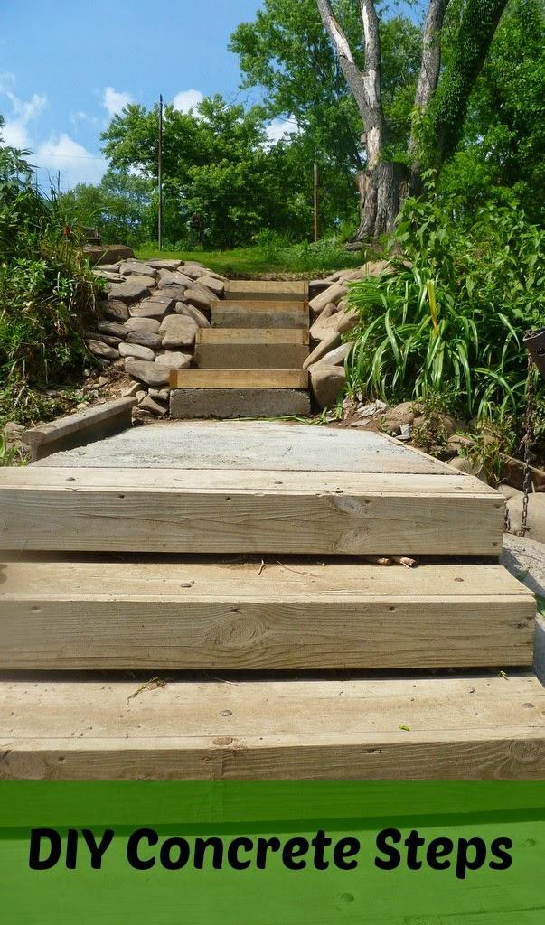 Growing in Grace: DIY Concrete Steps
