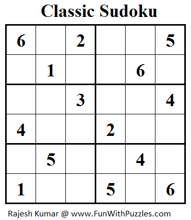 Classic Sudoku (Mini Sudoku Series #33)