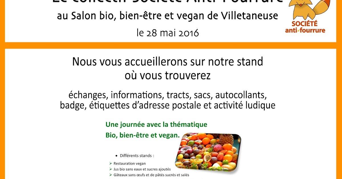 Soci t anti fourrure salon bio bien tre et vegan - Salon bio et bien etre ...