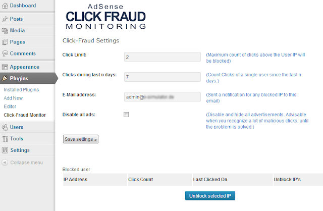 Adsense click fraud monitoring Gratis