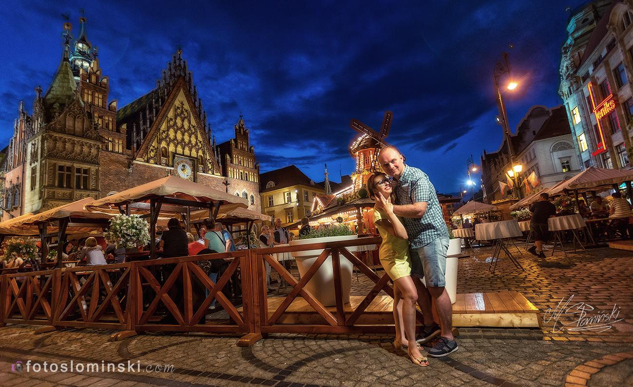 Wieczorna sesja zdjęciowa we Wrocławiu - Fotografia ślubna - FotoSlominski.