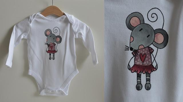 malované bodýčko myška