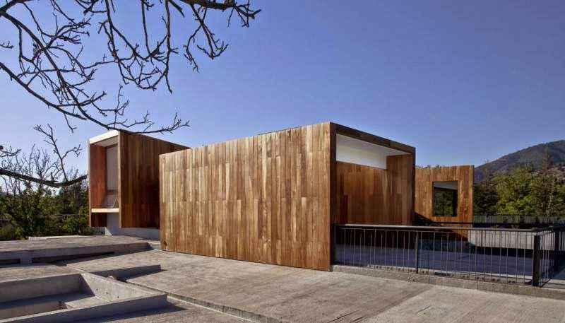 contemporary wooden house in chile - la dehesa - modern home