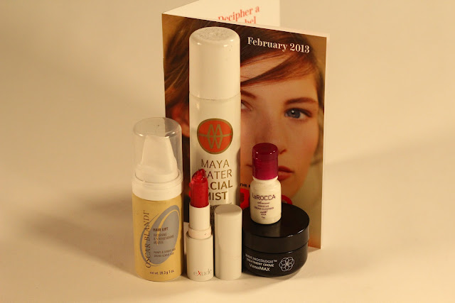 sample society beauty subscription February 2013