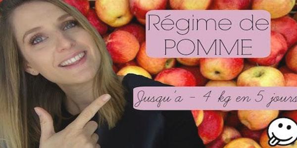 Regime de pomme - Jusqu'a -4 kg en 5 jours!