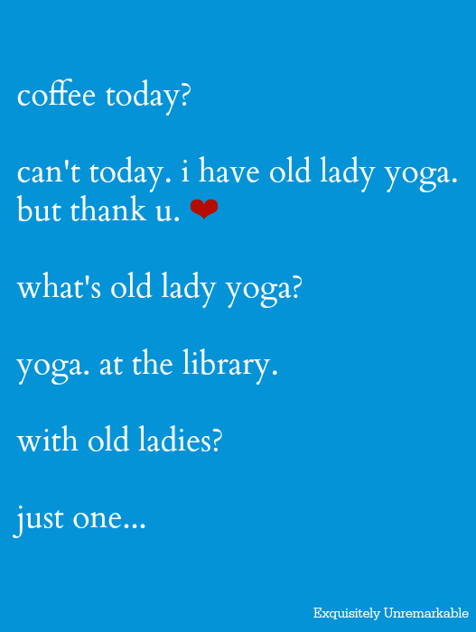 Old Lady Yoga Class