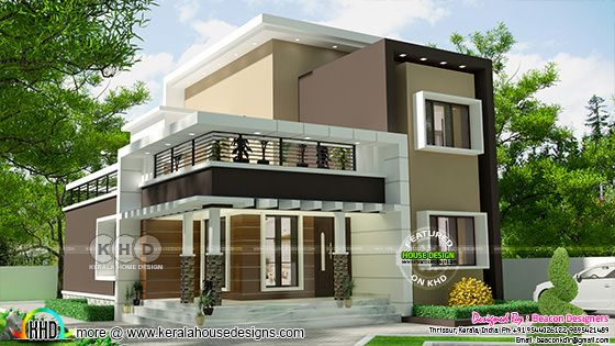 3 BHK 1714 square feet modern home design